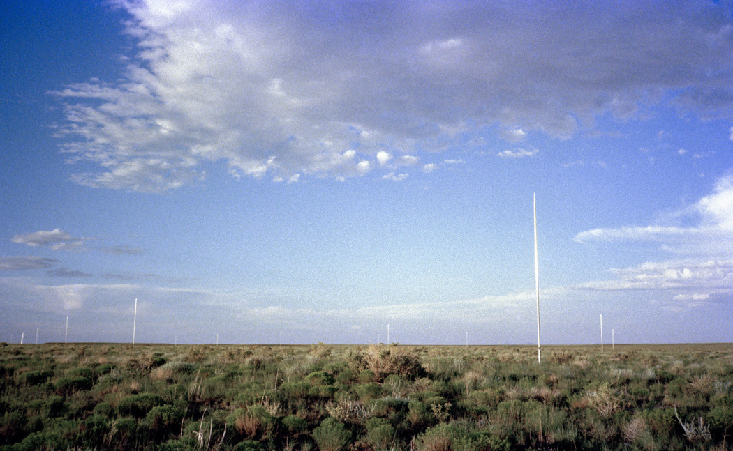 35-Pole Lightning Field, 1974