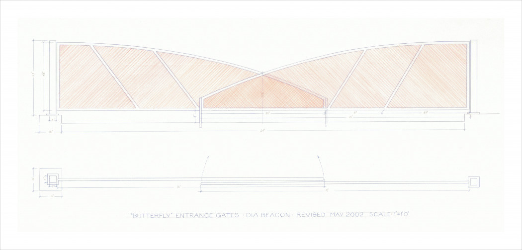 Irwin_Rendering of butterfly entrance gates, Dia Beacon_2002_1_HR (1)