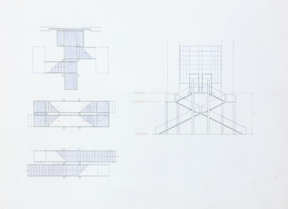 Irwin_Rendering of stairway to west garden_1999_HR