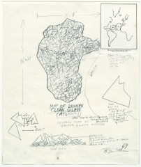 Smithson, Map of Broken Clear Glass (Atlantis), 1969