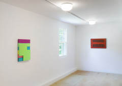<p>Mary Heilmann, installation view, The Dan Flavin Art Institute, Bridgehampton, New York. &copy; Mary Heilmann. Photo: Bill Jacobson Studio, New York</p>
