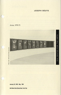 Beuys, Joseph, Arena 1992 brochure cover