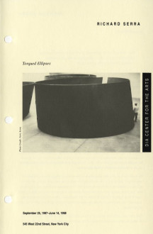 Serra, Richard, Torqued Ellipses, Chelsea 1998 brochure cover