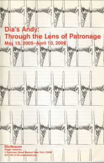 Dia's Andy, Through the Lens of Patronage brochure cover