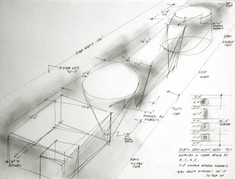 Heizer, Drawing for North, East, South, West, 1999
